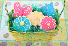 Easter Flower and Butterfly Cookies Stock Photography