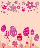 Easter flower card Stock Images