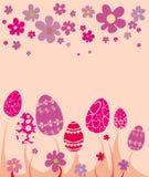 Easter flower card. Illustration eggs Stock Images
