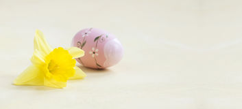 Easter flower and egg Royalty Free Stock Photo