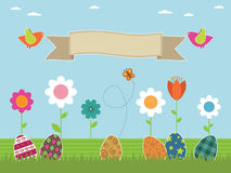 Easter flower garden Stock Image