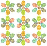 Easter flower pattern Royalty Free Stock Images