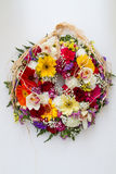 Easter Flower Wreath Royalty Free Stock Photography