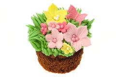 Easter flowers cupcake Royalty Free Stock Images