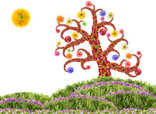 Easter Flowers Tree concept Royalty Free Stock Images