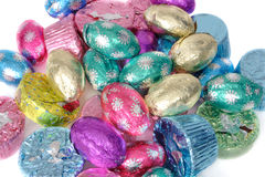 Easter Foiled Chocolates Royalty Free Stock Photos
