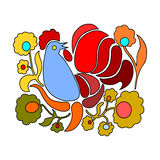 Easter folk bird. Stock Photography