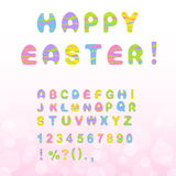 Easter font Stock Images