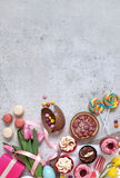 Easter food background Royalty Free Stock Photos