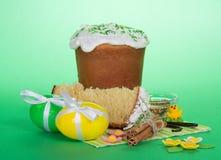 Easter food, cinnamon and vanilla on a napkin Stock Image