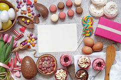 Easter food selection background Royalty Free Stock Image