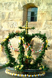 Easter Fountain In Front Of A Church Royalty Free Stock Photo
