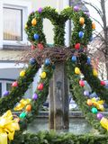 Easter fountain Stock Photos