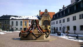 An Easter fountain in Thuringia Royalty Free Stock Images