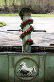 Easter fountain Royalty Free Stock Images