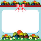 Easter frame royalty free stock photography