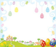 Easter Frame. Easter decorative Frame with landscape Stock Images