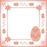 Easter frame. Illustration of decorative Easter frame Vector Illustration