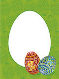 Easter frame. Colour illustration of easter frame Royalty Free Stock Images