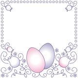 Easter frame Stock Photo