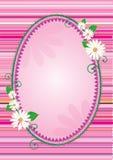 Easter frame. Easter egg shaped frame or banner with harts and flowers vector illustration