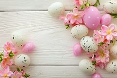 Easter frame background Stock Images
