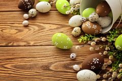 Easter frame background Royalty Free Stock Photography