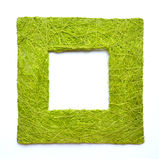 Easter frame border texture. Frame border texture. Handmade from green grass color threads Stock Photos