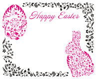 Easter frame with bunny Stock Photography