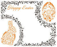 Easter frame with bunny. Vector Easter frame with bunny Royalty Free Stock Image