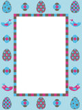 Easter frame decoration Royalty Free Stock Images