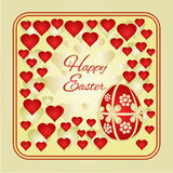 Easter frame Easter eggs and hearts vector Stock Photography