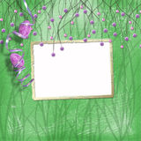Easter frame with paint eggs Royalty Free Stock Photos
