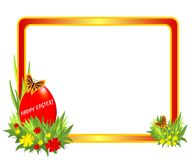 Easter frame with red egg, cdr vector Royalty Free Stock Photography