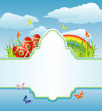 Easter frame for your text / cmyk / vector Royalty Free Stock Images