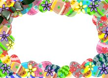 Easter framework made with colorful eggs royalty free illustration