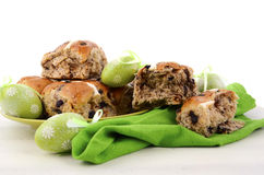 Easter Fruit Hot Cross Buns Stock Photography
