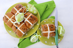 Easter Fruit Hot Cross Buns Stock Images