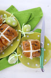 Easter Fruit Hot Cross Buns Royalty Free Stock Photography
