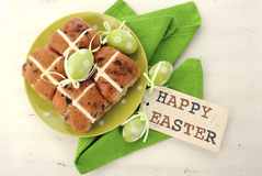 Easter Fruit Hot Cross Buns Royalty Free Stock Photo