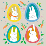 Easter funny Bunny. Royalty Free Stock Photos
