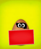 Easter funny egg Stock Photos