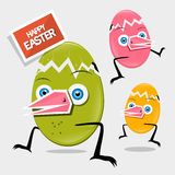 Easter Funny Eggs Stock Images