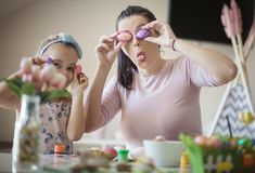 Easter and funny face royalty free stock photography