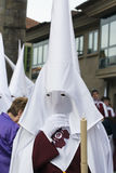 Easter in Galicia Spain. PONTEVEDRA, SPAIN - APRIL 2, 2015: Members of a religious brotherhood, hope to participate in a procession in celebration of Easter in Stock Photos
