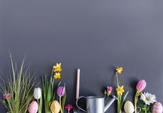 Easter garden background royalty free stock image
