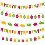 Easter garlands. Set of vector festive garlands for Easter design Royalty Free Stock Photography