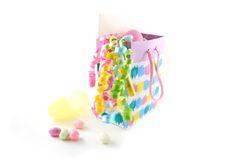 Easter gift bag with candy Stock Image