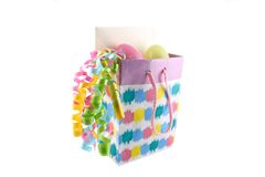 Easter gift bag Royalty Free Stock Images