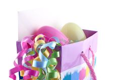 Easter gift bag close up Royalty Free Stock Photos